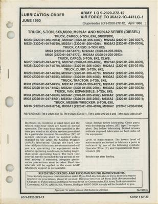 LO 9 2320 272 12 Lubrication Order